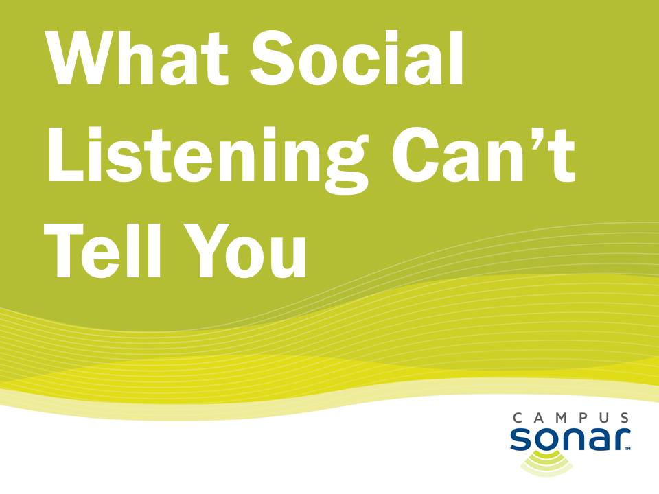 Social Listening Can't tell you