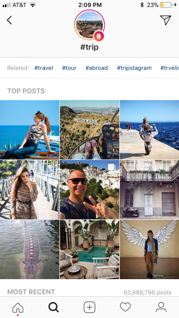how to find related hashtags on Instagram
