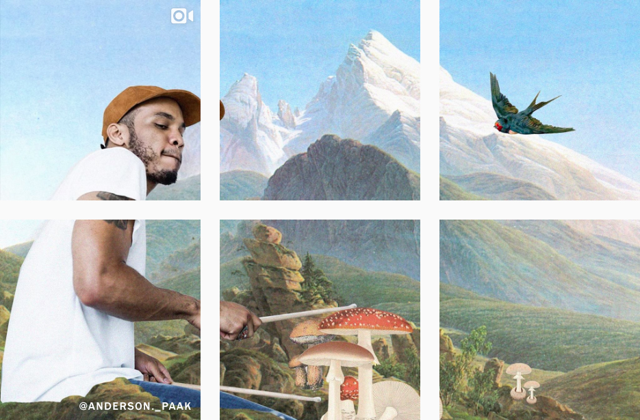 how to set up a photo grid on instagram