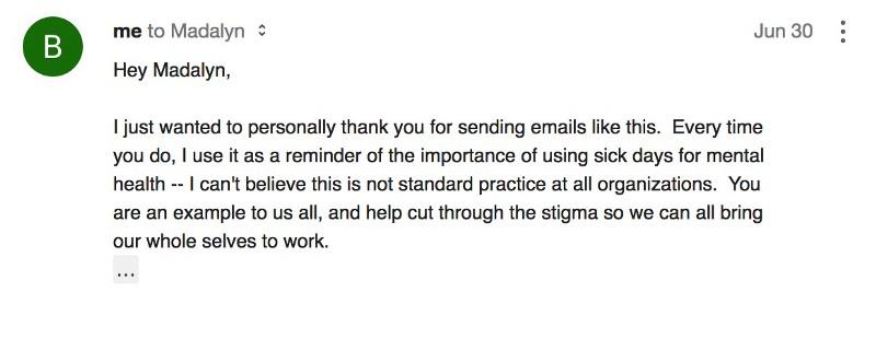 CEO mental health response