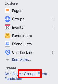 create group on fb