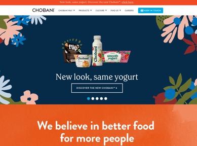 Chobani Landing Page