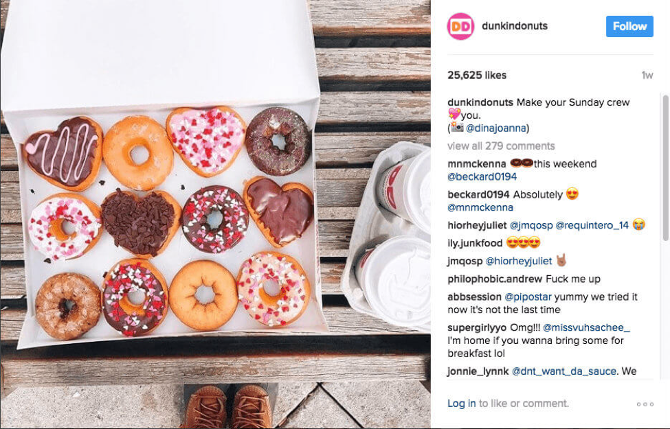 Dunkin Donuts Valentine's Day Campaign