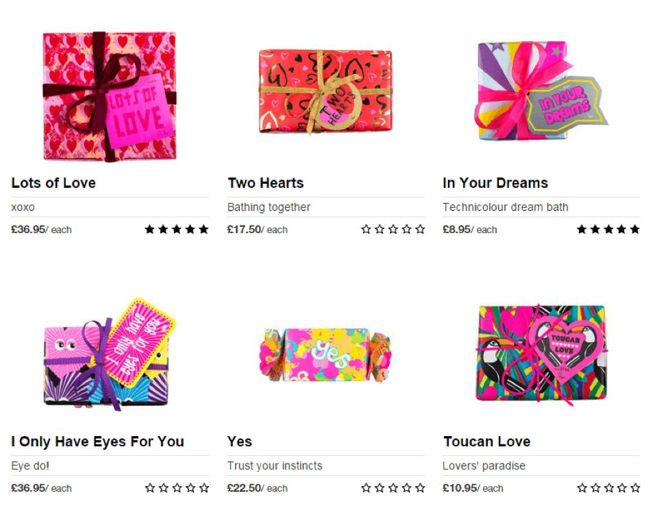 Lush Valentine's Day Campaign