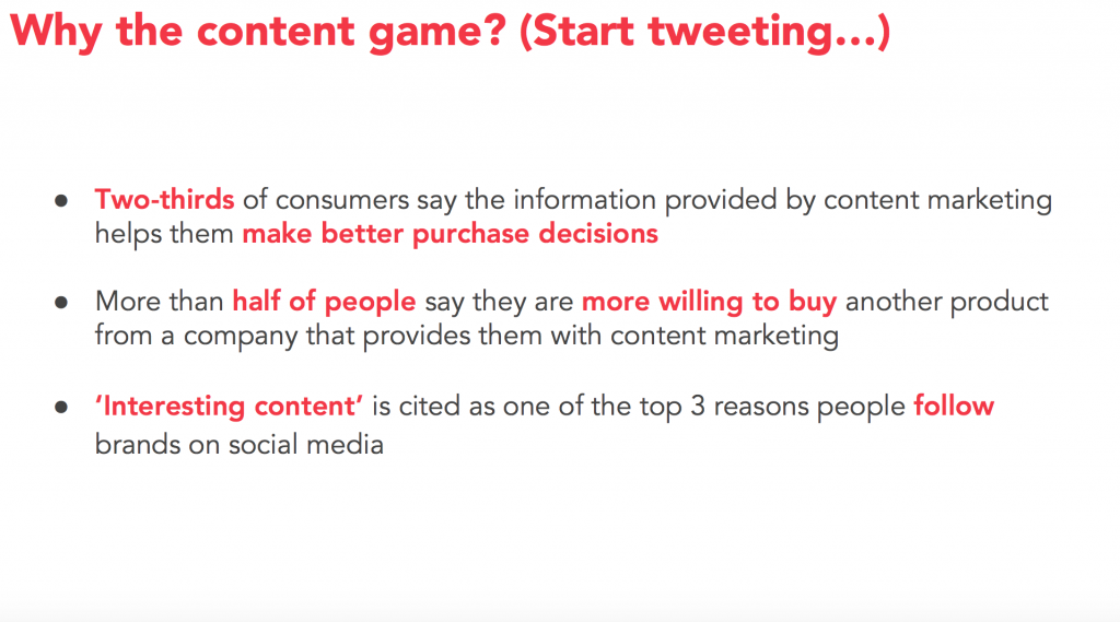 Why the content game?