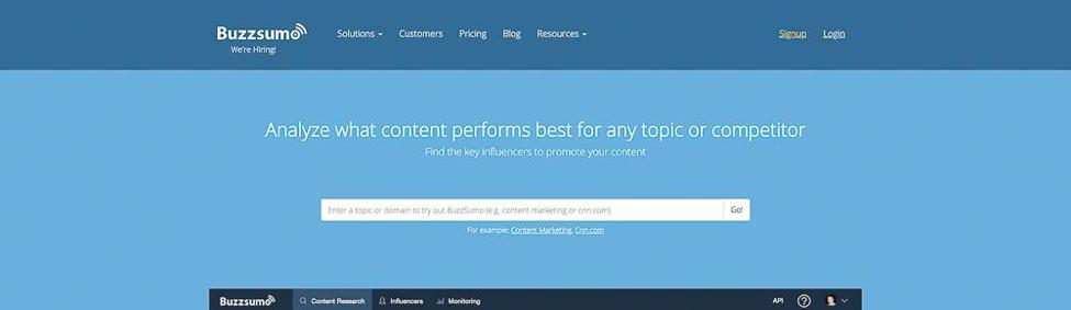 Content Tool for Social Media - Buzzsumo