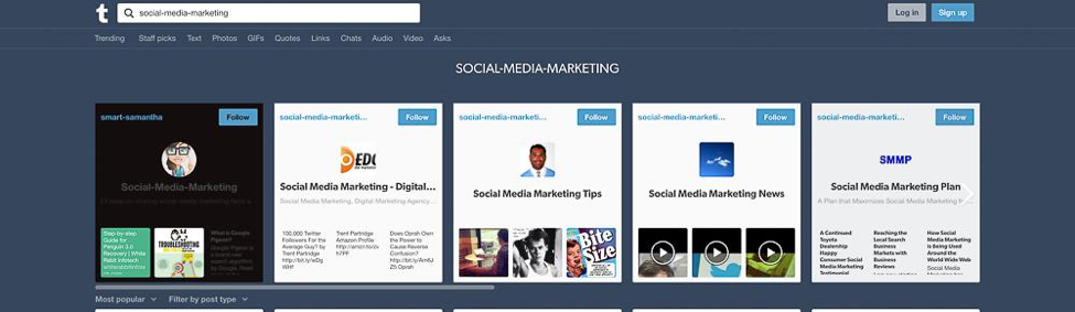 Content Tool for Social Media - Instagram and Tumblr