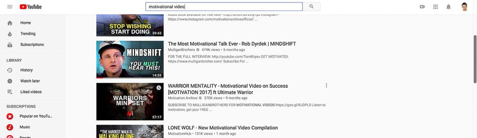 Content Tool for Social Media - Youtube