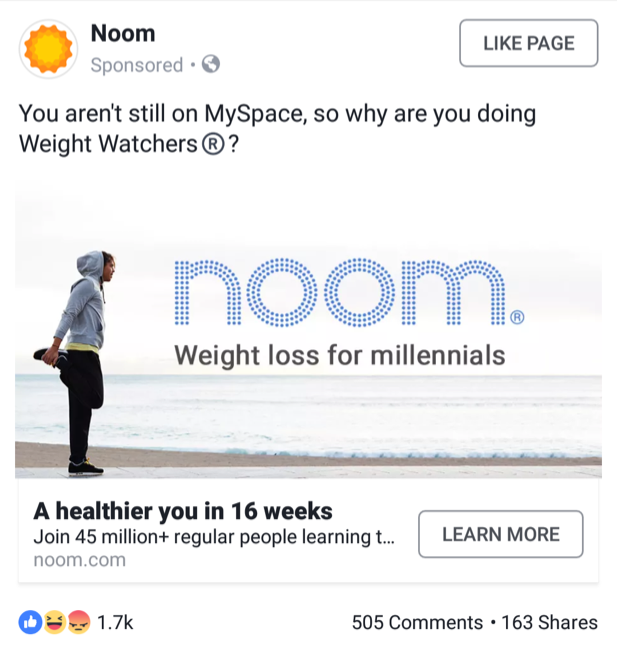 Noom Social Media Marketing Campaign