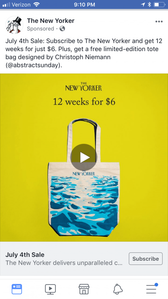 New Yorker FB Ad
