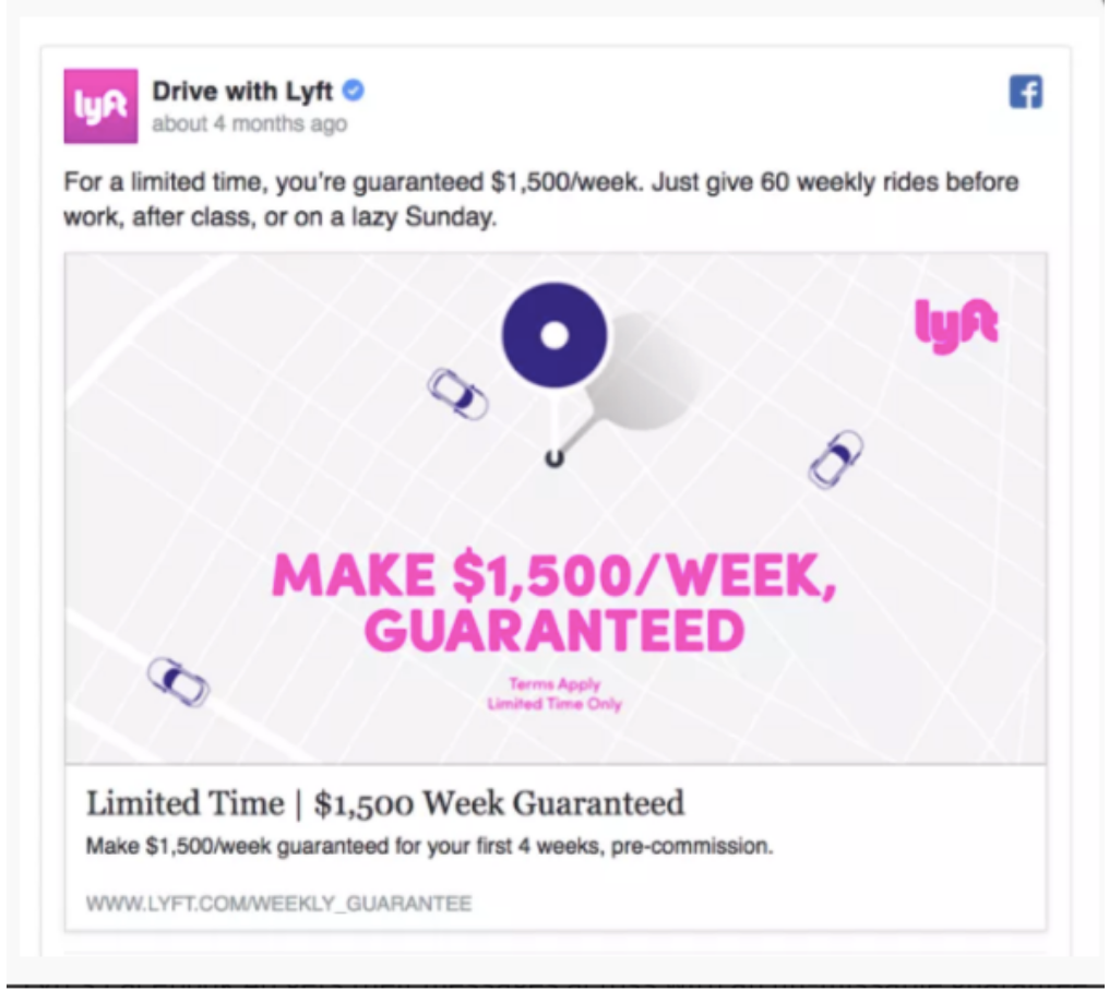 Lyft Facebook Ad