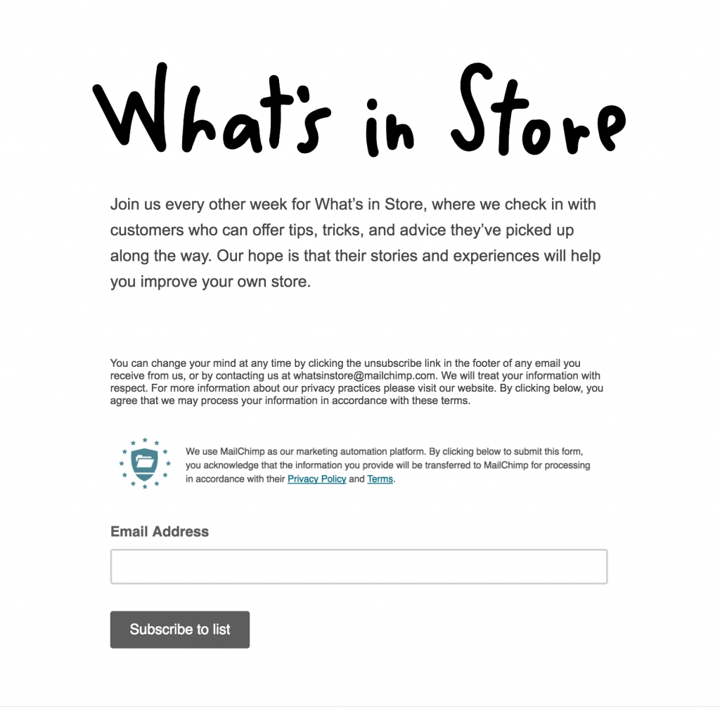 MailChimp Facebook Newsletter Tab
