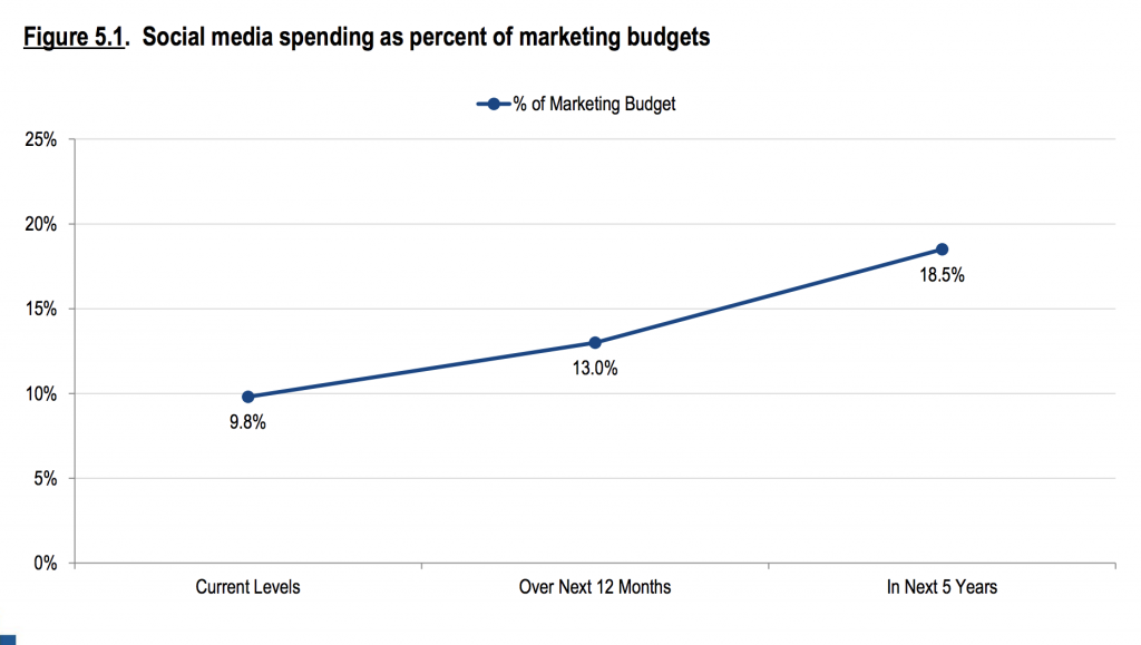 Identify social media strategy budget, tactics and tools