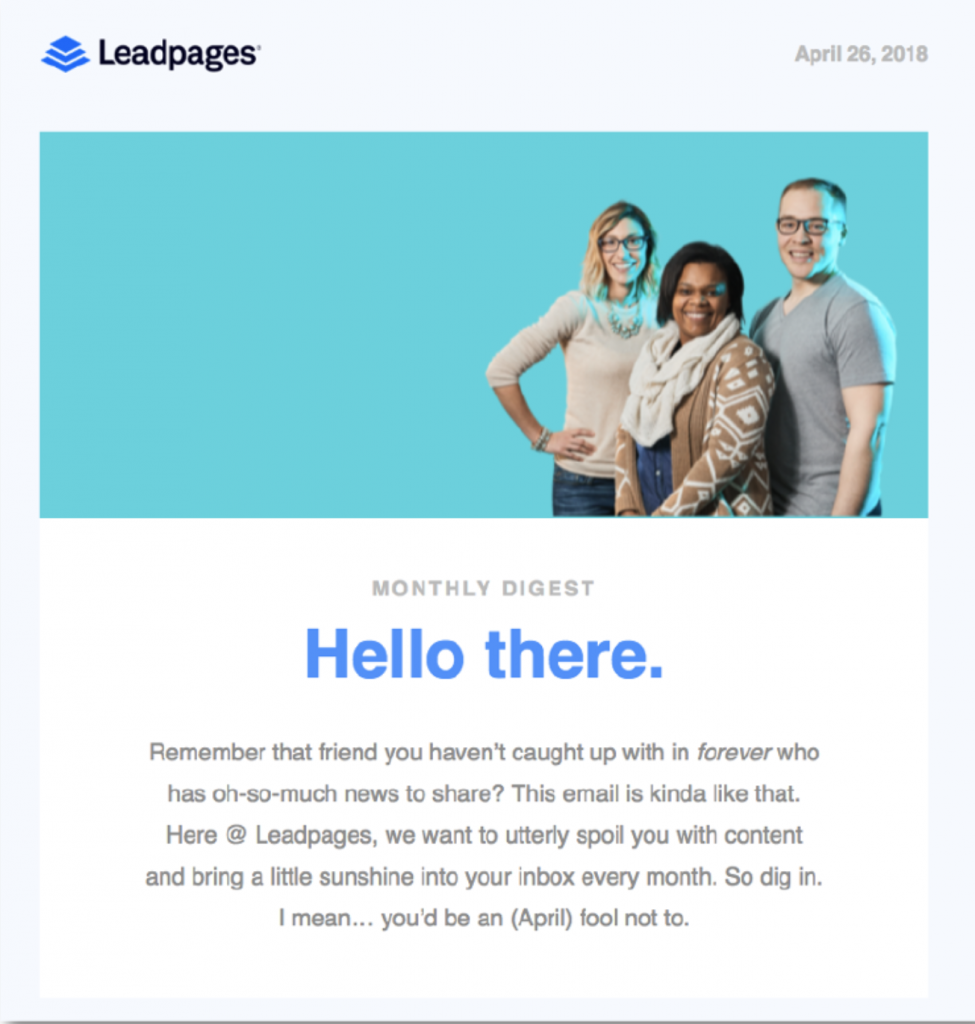 Have a conversation with Leadpages