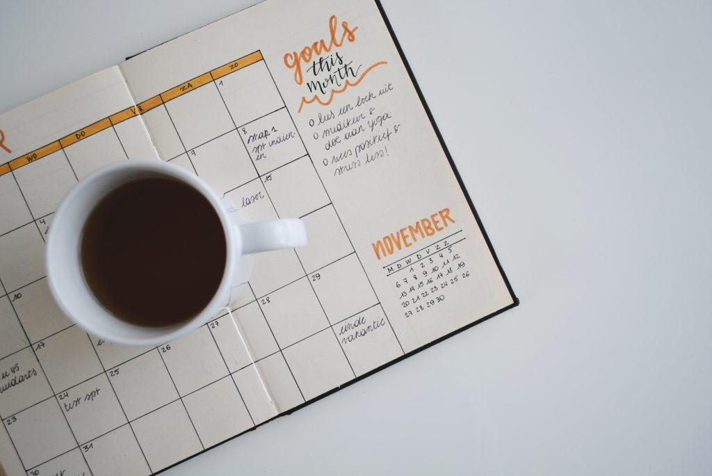 Calendar for goals