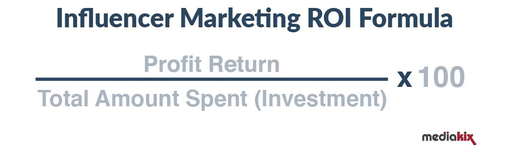 Influencer Marketing ROI Formula
