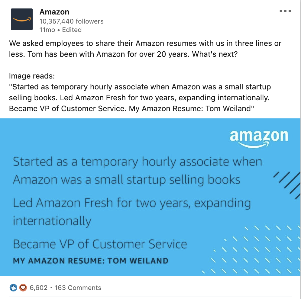 Amazon Tells Employee Stories to Connect with Audience