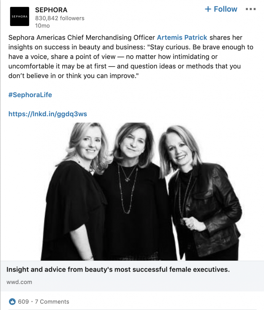Sephora Shares Employee Thought Leadership