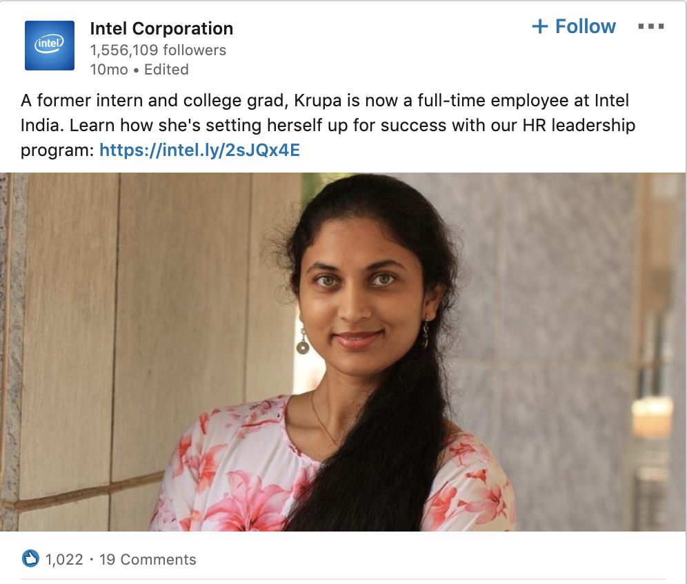 Intel Showcases Career Advancement