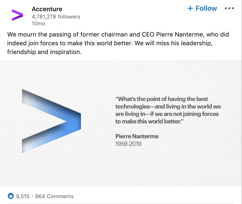 Accenture Shows Their Compassion